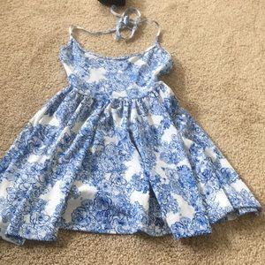 american apparel blue paisley dress
